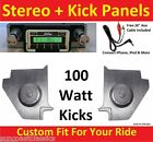 64-65 Falcon Hardtop Radio & Kicks w Speakers for Stereo Radio 630