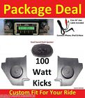 64-65 Falcon Hardtop Radio & Kicks w Speakers + Dash Speaker Stereo 630