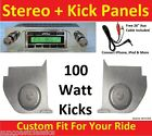 63-65 Falcon Convertible Radio & Kicks w Speakers for Stereo Radio 630