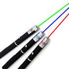 3PCS Green + Blue Violet + Red Light Beam Powerful 5MW Laser Pointer Pen Power