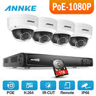 ANNKE HD 6MP 4CH NVR 1080P Network PoE Dome Outdoor Security Camera System 1TB