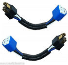 H4 Extreme Duty Ceramic Headlight Harness Extension Adapters Head Lamp Heat Plug