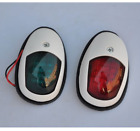 Boat Yacht LED light 12V White Plastic Bow Navigation Lights One Pair