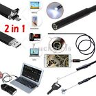2-5-10m 2IN1 6LED Lens Android Endoscope Inspection Camera Micro USB Waterproof
