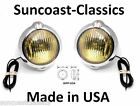 "12 Volt Amber 5"" Unity Chrome Fog Lights with Real Glass Lenses - Lincoln"
