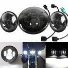 """7"""" HID LED Headlight Auxiliary Passing Lights Daymaker For Harley Touring Parts"""