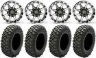"STI HD6 14"" Wheels Machined 28"" Crawler XR Tires Sportsman RZR Ranger"