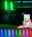 5FT RGB smartphone App Bluetooth ATV UTV RZR Buggy Led Light Whip Quick Release
