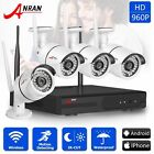 ANRAN 4CH 960P NVR Outdoor CCTV P2P Wireless Wifi Home Security IP Camera System
