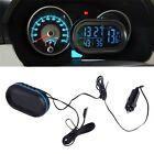 Car LED Backlight Digital Display 2 Thermometer Voltmeter Alarm Clock Date SM