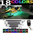 12pc MULTI COLOR LED ARCTIC CAT SNOWMOBILE UNDER GLOW LIGHT KIT w REMOTE CONTROL
