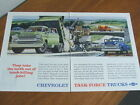 1958 Chevrolet Trucks original US large two page advertisement