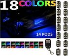 14pc Universal Snowmobile 84 LED Accent Light Pod Wireless Kit w Keychain Remote