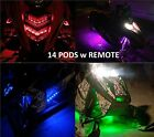 Snowmobile LED Premium Color Changing Lighting Kit UnderBody Glow Neon Pods 14pc