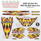 2004 Ski-doo MXZ800HO Black Hood & Tail Rev Reproduction Vinyl Decal Set 16Pc