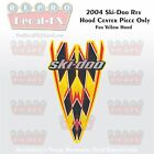 2004 Ski-Doo MXZ Yellow Hood Center 1 Piece Reproduction Vinyl Decal