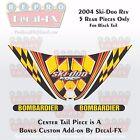 2004 Ski-doo Rev MXZ Black Tail Panel Reproduction Vinyl Decal Set 5Pc