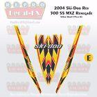 2004 Ski-doo Rev MXZ500SS Yellow Hood Panel Reproduction Vinyl Decal Set 3Pc DPM
