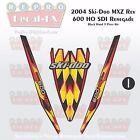 2004 Ski-doo Rev MXZ600HO SDI Black Hood Panel Reproduction Vinyl Decal Set 3Pc
