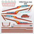 1992 Polaris 650 Indy Graphic Repro 20Pc Vinyl Decal Vintage Snowmobile Stickers