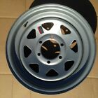 "SINGLE 16"" X 6"" GRAY TRAILER WHEEL  6-LUG ON 5.5 INCHES"