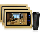 Home Wired Video Door Phone Audio Visual Intercom Entry System For Dual Way