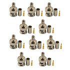 10PCS/a Lot White BNC Plug Antenna Cable RG-58 Coax Male Crimp Connectors