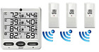 Ambient Weather WS-10 Wireless Indoor/Outdoor 8-Channel Thermo-Hygrometer with T