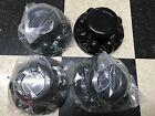 "(4) BLACK Trailer Wheel Hub Cap Covers SHARP!! 16"" 13/16"" 8H rims  QT765BHN"