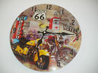 "car and a motorcycle creatures Children wall clock 11.5"" for a decor room gift"