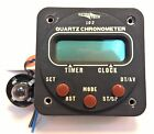 "Astro Tech LC-2 Quartz Chronometer, P/N AT420000, 2-1/4"" Panel Mount 12V-28V"