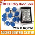 Metal 125KHz RFID Card+Password Door Access Control Keypad Backlight+10RFID Fobs