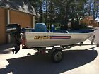 14' Klamath Fishing Boat Deluxe 15 HP Mercury