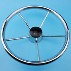 5 Spoke Destroyer Style Stainless Steel Boat Steering Wheel 13-1/2'' Practical