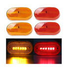 4x LED Front Rear Side Marker Light Indicator for Boats Truck Trailer Amber &Red