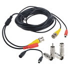 Flashmen 25ft 1 pack bnc video power cable security camera wire cord for cctv dv