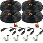 Amcrest 4-Pack 150 Feet Pre-Made All-in-One Siamese BNC Video and Power CCTV Sec