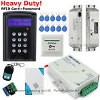 LCD Screen RFID Card+Password Door Access Control System+Electric Drop Bolt Lock
