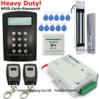 LCD RFID Card+Password Access Control System+Embedded Magnetic Lock+2Remote fobs
