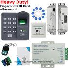 Fingerprint+RFID Card+Password Door Access Control System+Drop Bolt Lock+Remote