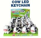 12 x COW LOT LED KEY CHAIN LIGHT & MOO SOUND EFFECTS ANIMAL RING CHARM US Based