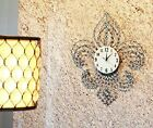 "Collectibles Oversized Fleur De Lis Contemporary Style Wall Clock 27""Ta"