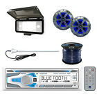 Dual Marine Bluetooth Receiver with Speaker, Wire, Antenna & Dash Kit Protector