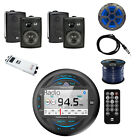 Dual MP3 USB Bluetooth Receiver W/Speakers, Subwoofer, Amplifier, Wire & Antenna