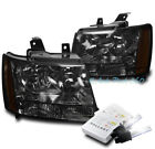 07-14 CHEVY SUBURBAN/TAHOE/13 AVALANCHE HEADLIGHTS LAMP SMOKE W/6K HID KIT
