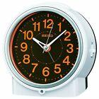 SEIKO CLOCK Alarm clock Automatic lighting Analog White Pearl KR886W
