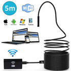 2M 8mm WiFi Endoscope Borescope Inspection Camera Waterproof For Android iPhone