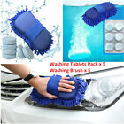 Auto Car Windscreen Concentrated Cleaner Wash Tablet+Sponge Washing Gloves Brush