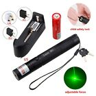Green Laser Pointer Pen 1mw Adjustable Focus 532nm Lazer pointers 18650+charger