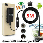 6-LED Waterproof WiFi Phone/PC Borescope Inspection Endoscopes Snake Tube Camera